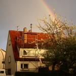 Regenbogen vor der Kamin-Aktion