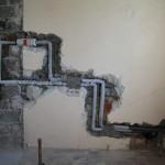 Kalt- und Warmwasser-Leitung für die Dusche
