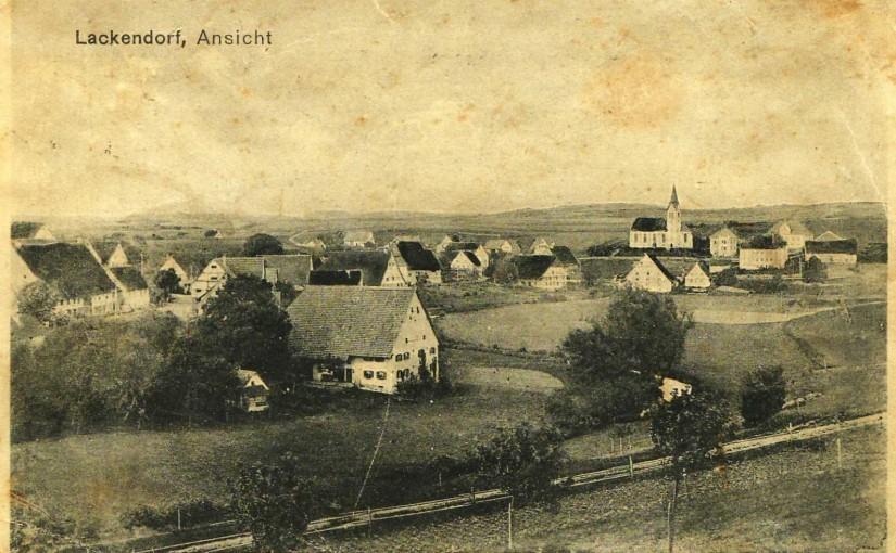 Lackendorf vor dem Ersten Weltkrieg (vorne: Hof von Gustav Flaig). [Seite 4]