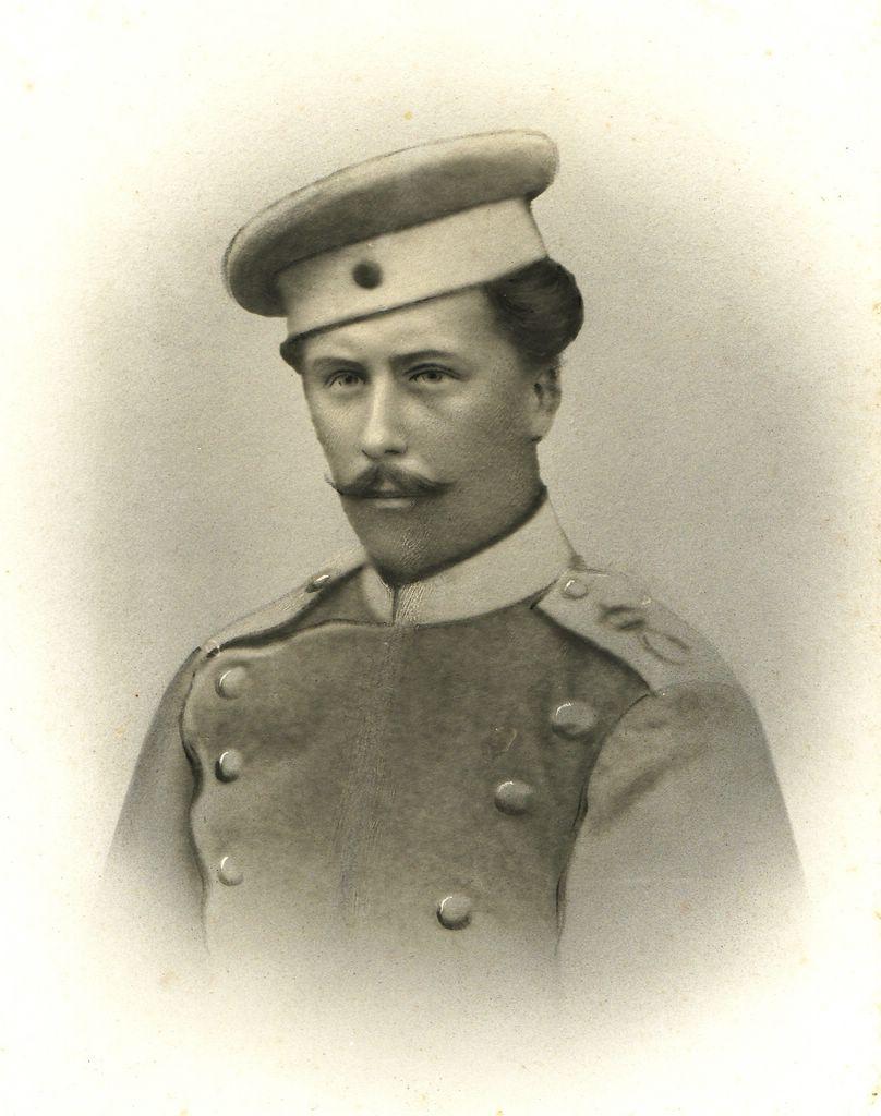 Gustav Flaig (*1853; †1918) beim Militär in Ludwigsburg (um 1870). [Seite 6]