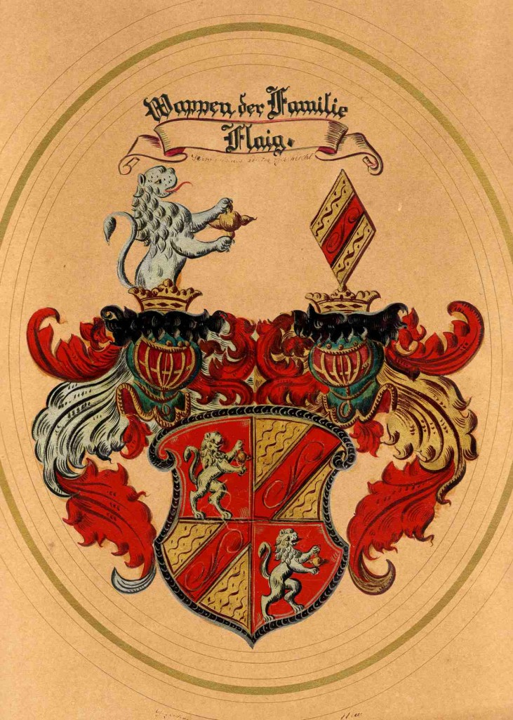 Wappen der Familie Flaig (1876). [Seite 8]