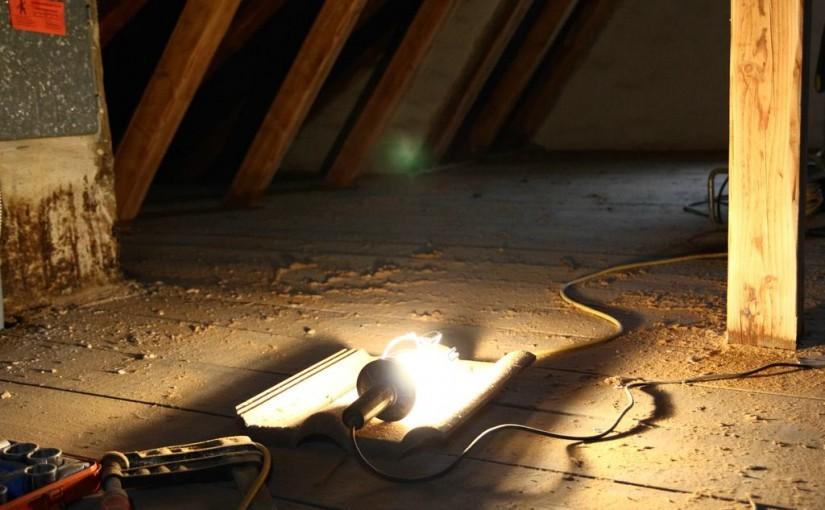 Dachboden – Vorarbeiten für Dacharbeiten
