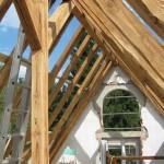 Dachstuhl mit Leiter